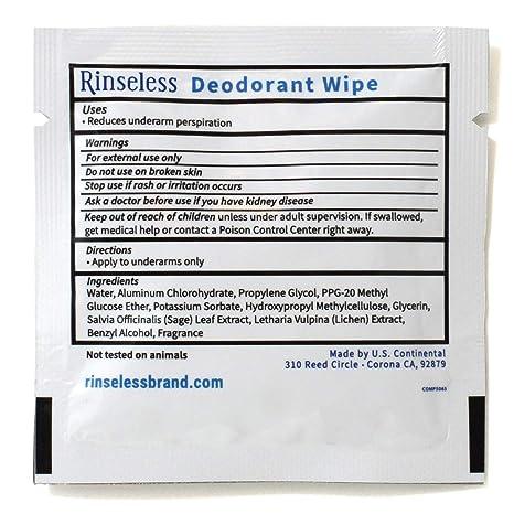 Amazon.com: Toallitas desodorantes individuales sin arenas ...