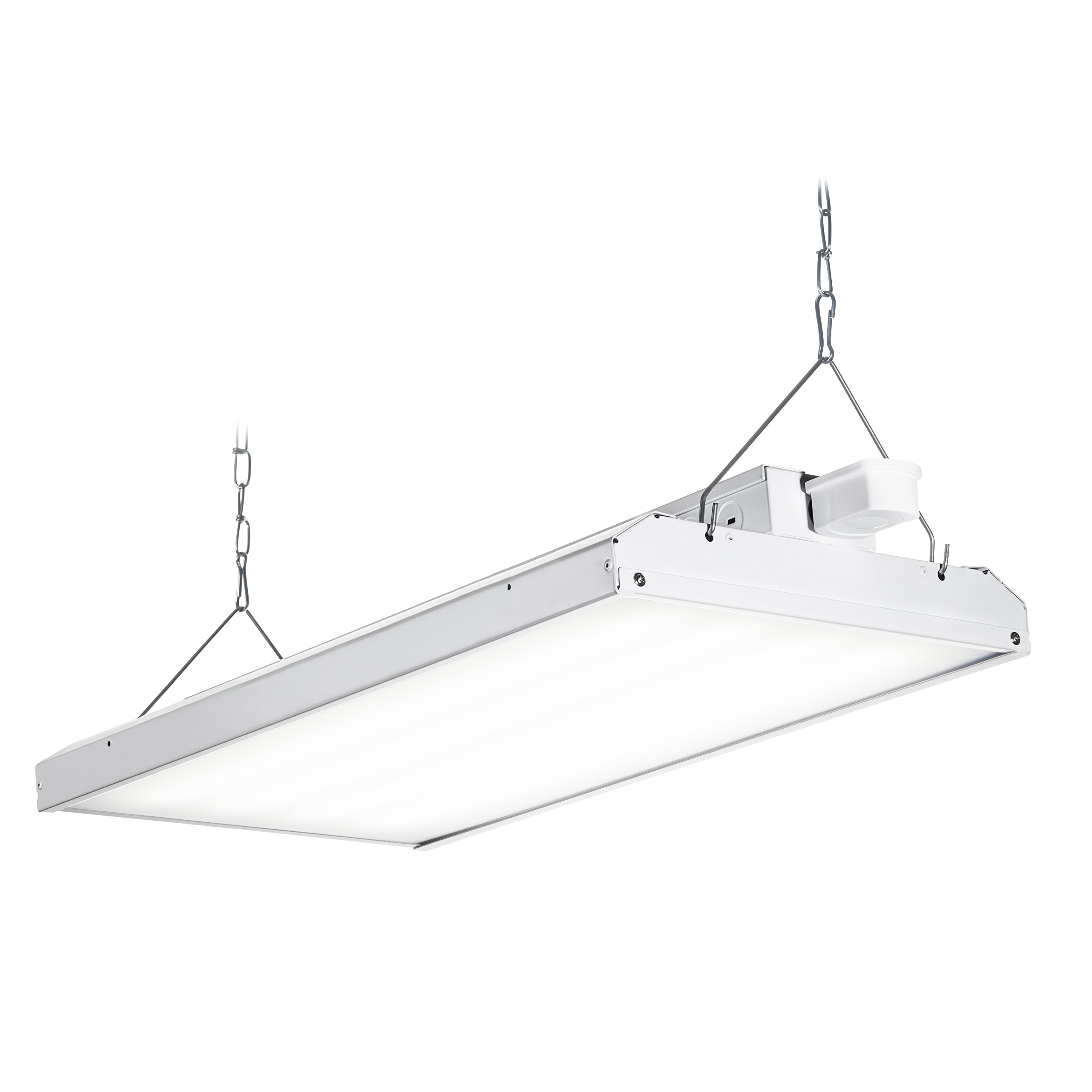 Hyperikon LED High Bay Light Fixture, Motion Sensor Included, 105W (300W Equivalent), 14000 Lumen, 5000K Indoor Area Warehouse Industrial Lighting, DLC and UL