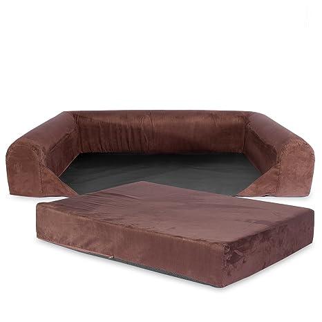 KOPEKS Funda de Repuesto para Sofa de Perros Funda Sofá Marrón - XL