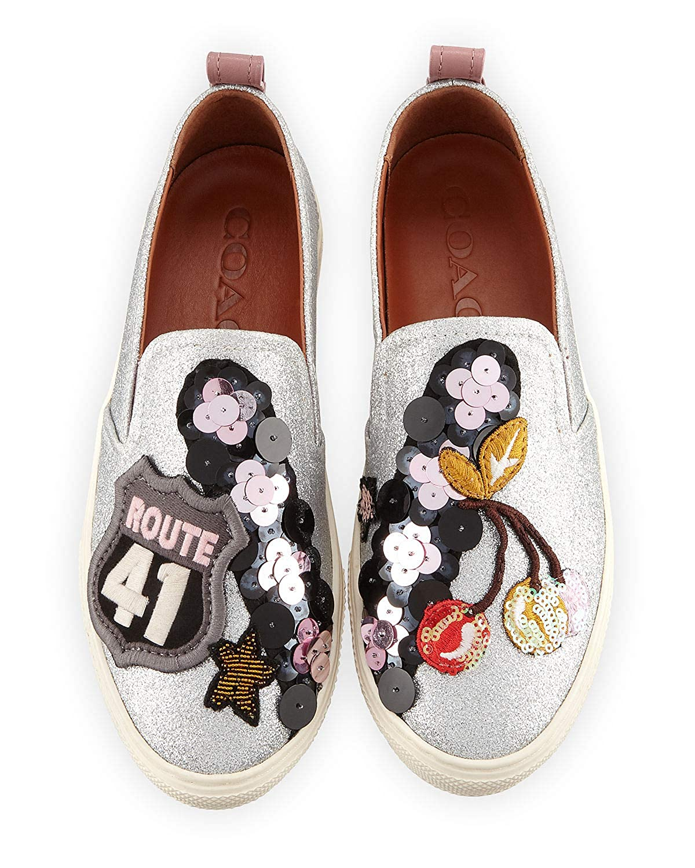 918c0992 Amazon.com | Coach C115 Metallic Cherry Patches Sneakers 9.5 ...