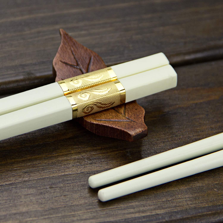 Chop sticks Chopsticks Bamboo AOOSY 5 Pairs Japanese Reusable Chopsticks Bamboo Classic Style Gift Set with Box Dishwasher Safe