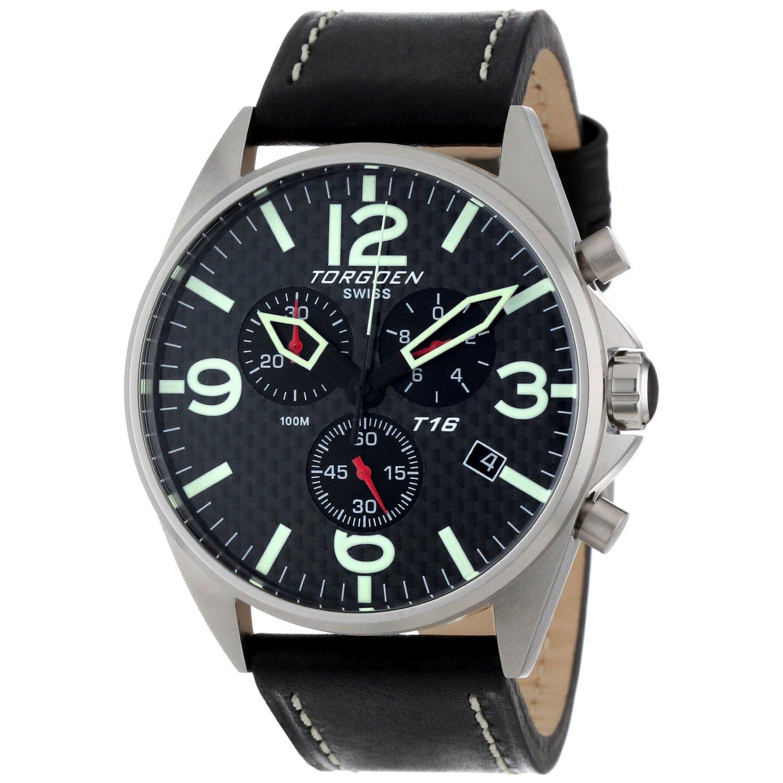 Torgeon Herren-Armbanduhr Analog Edelstahl schwarz T16105