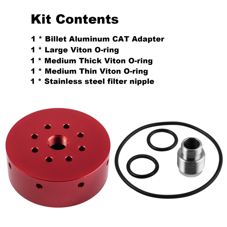 Danti CAT Fuel Filter Adapter for Chevy//GMC Duramax Diesel 2001-2017