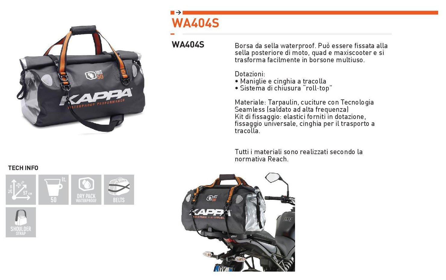 Borsa da sella New waterproof WA404S Kappa Moto 2014  Amazon.co.uk  Car    Motorbike a1835b371a375