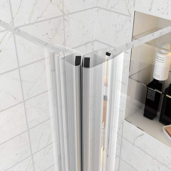 Entrada en Curva ducha almacenaje doble puerta corredera cabina de ducha Puerta de cristal, 1100 x 800mm Shower Enclosure: Amazon.es: Hogar