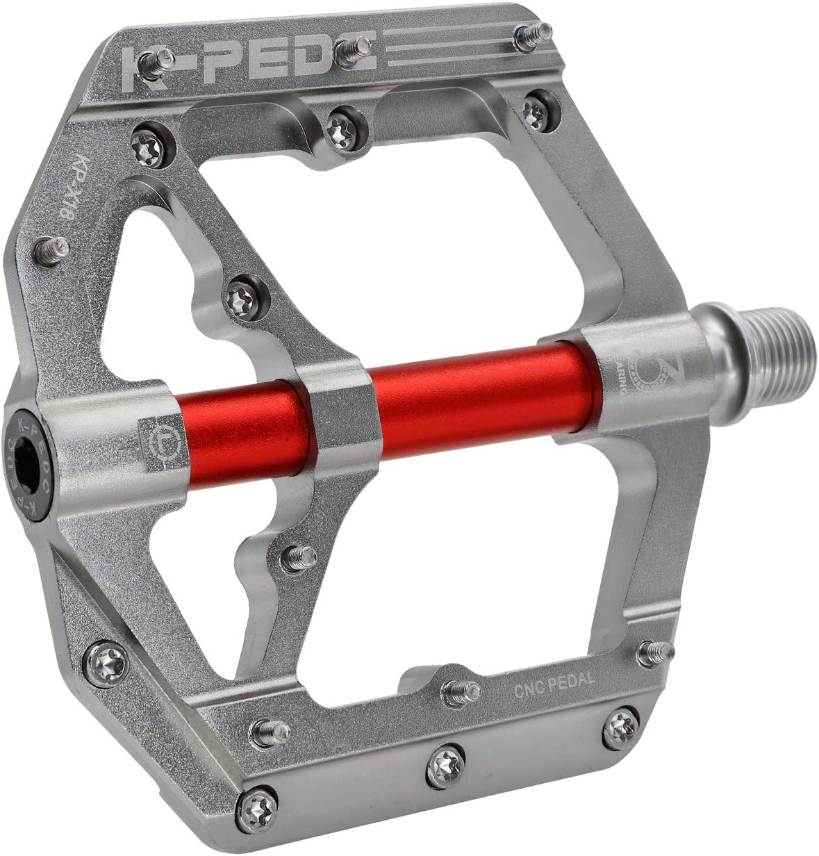 K PEDC Mountain Bike Pedals3 Sealed Bearings Ultra Strong Colorful Cr-Mo Aluminum Alloy CNC Machined 9//16 Non-Slip for Road BMX MTB Fixie Bikes