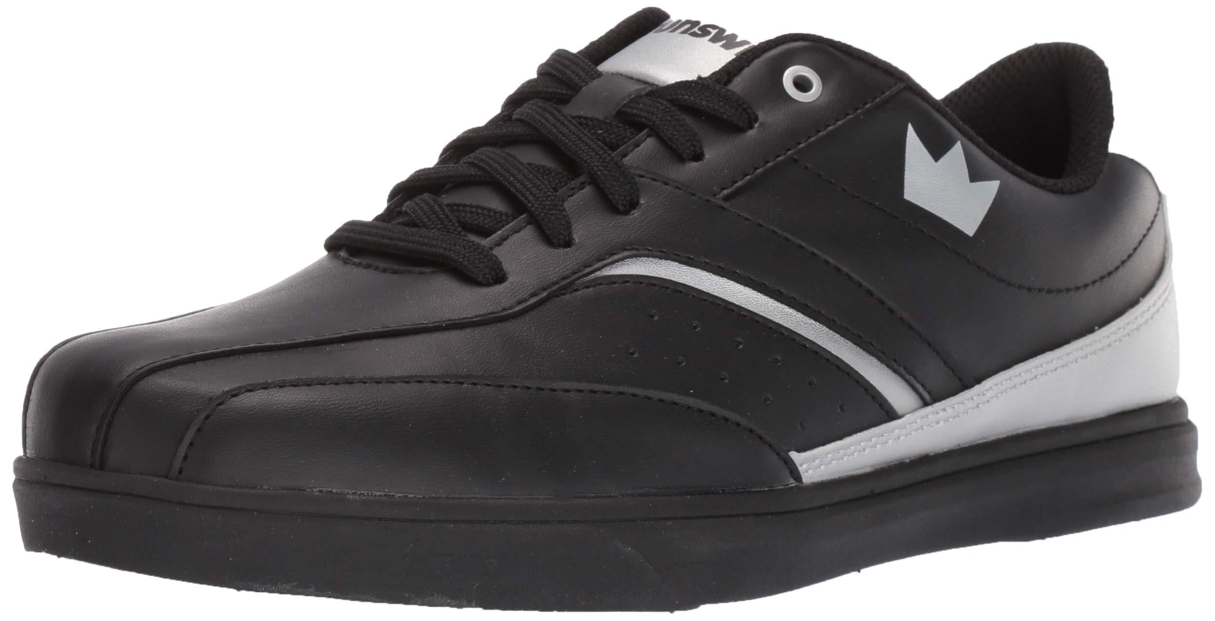 Brunswick Vapor Mens Bowling Shoe Black/Silver, 7.0