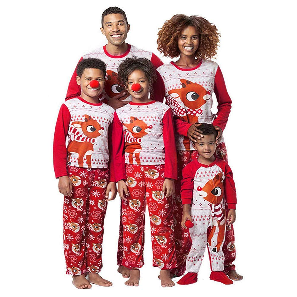 WensLTD Christmas Family Pajamas Set - Holiday Family Matching Winter Reindeer Pajama PJ Sets WensLTD-Family Clothing