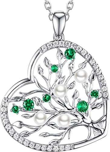 Xmas Gifts Fashion Jewelry Heart Cut Green Emerald Silver Tone Pendant Necklace