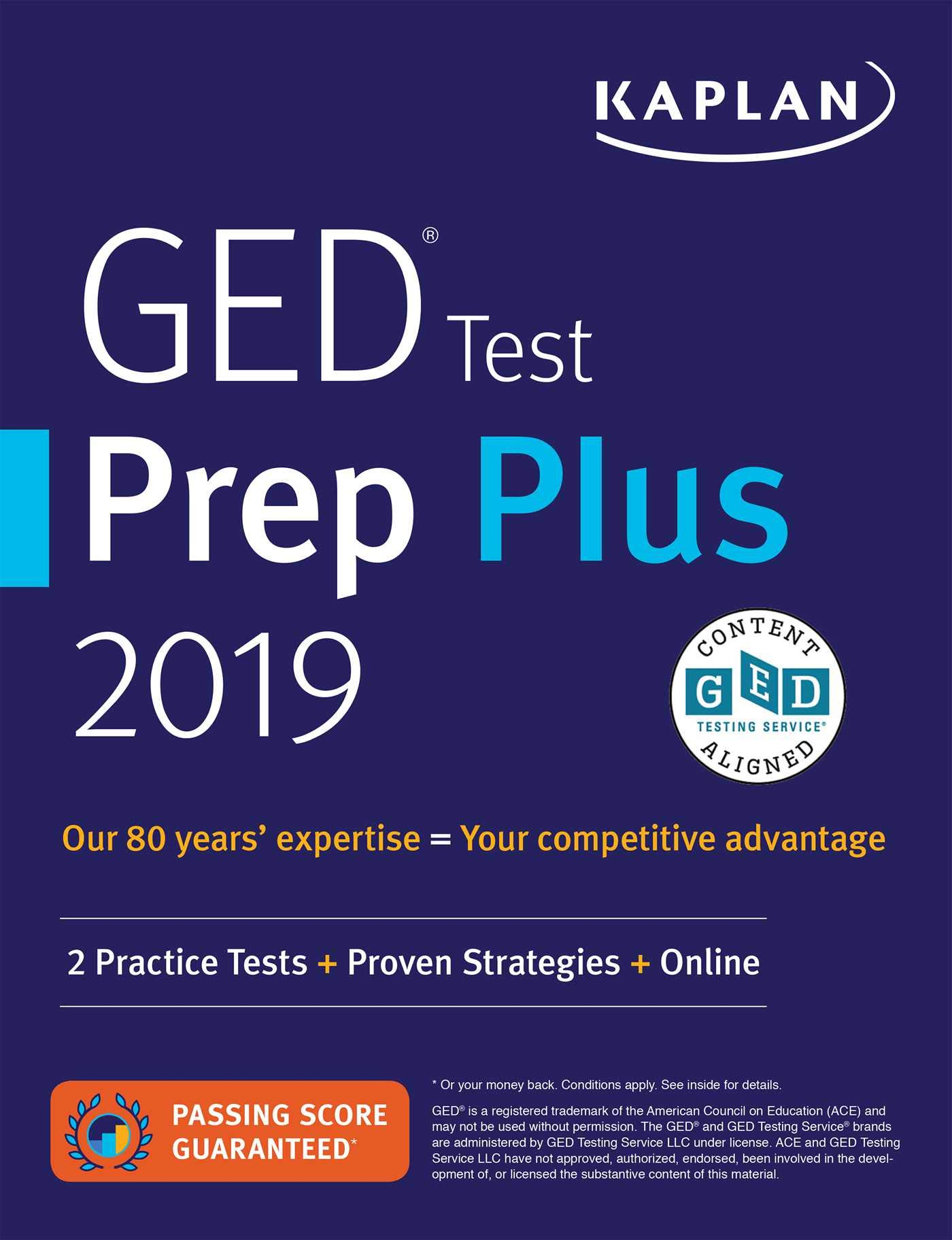 GED Test Prep Plus 2019: 2 Practice Tests + Proven Strategies + Online (Kaplan Test Prep) by Kaplan Publishing
