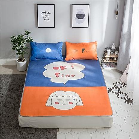 GX&XD Elegante Cartoon Estera de Dormir de Verano,Estera de Dormir de Verano Tres Lavable