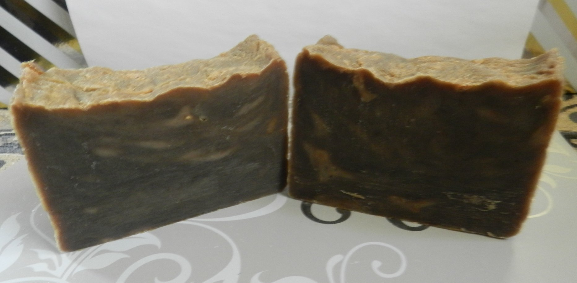 Pine Tar Soap Two Bars. Traditional Handmade Lard and Lye Soap with 11% Closed Kiln Pine Tar Eczema Psoriasis Scent Masking Pregnancy Rash Primitive Rustic