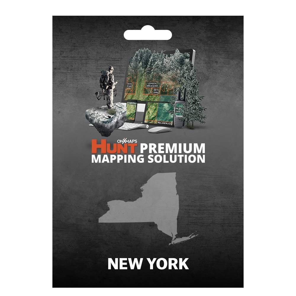 onXmaps HUNT New York: Digital Hunting Map For Garmin GPS + Premium Membership For Smartphone and Computer - Color Coded Land Ownership - 24k Topo - Hunting Specific Data