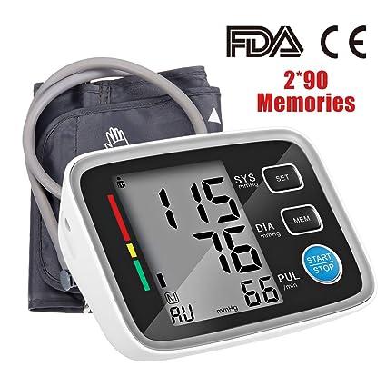 Tensiómetro de brazo digital, lecturas de presión arterial rápidas, cómodas y precisas, validado