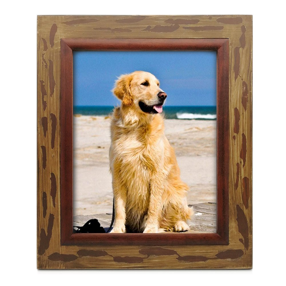 icheesday Aging Rustic Wood Picture Frames with Kickstand,Multi Size Vintage Photo Frame with Holster Stand (6x8 inch,15x20cm) iCheesday Art