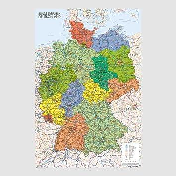 Kunstdruck Poster - Deutschland Germany Karte Map 61 x 91,50 cm ...