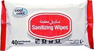 Cool & Cool Sanitizing Wipes - 40 Pieces