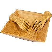 woodluv–Cesto 100% bambú Ensalada Pasta Hobby Cuenco