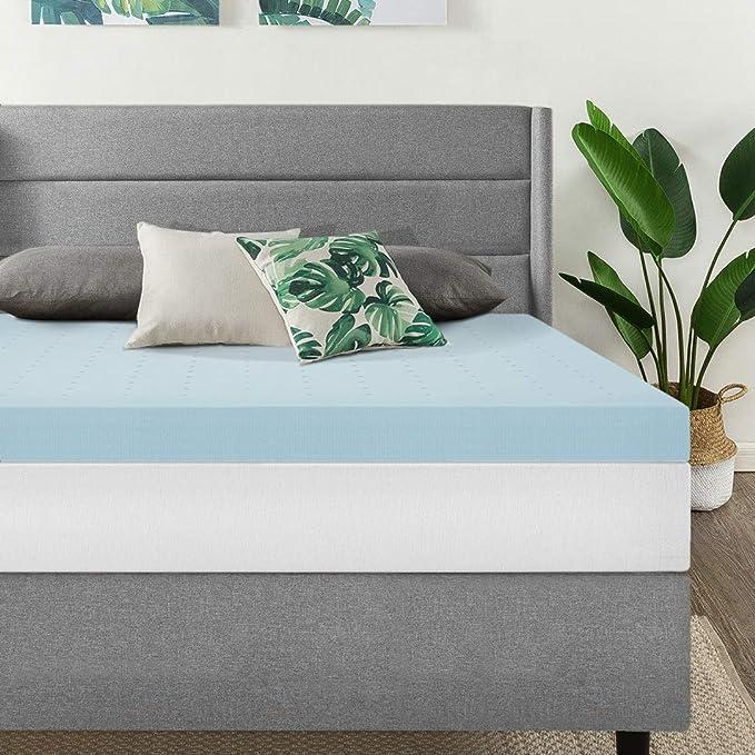 4-inch Plush Support Cooling Gel Memory Foam Mattress Topper Pillowtop Cloudlike