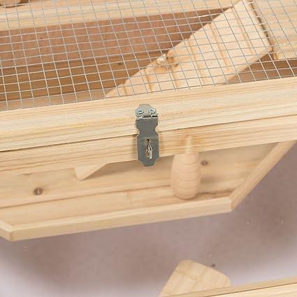 Timbo Jaula de Madera para hámsteres y roedores (100 x 55 x 55 cm), diseño de cobayas: Timbo: Amazon.es: Productos para mascotas