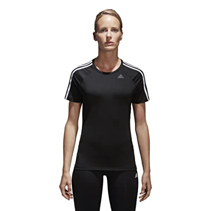 7f5a6fe83c Amazon.com  adidas Womens Training Designed 2 Move 3-Stripes Tee ...