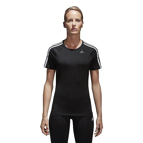 6fe9af9667a3 Amazon.com  adidas Womens Training Designed 2 Move 3-Stripes Tee ...