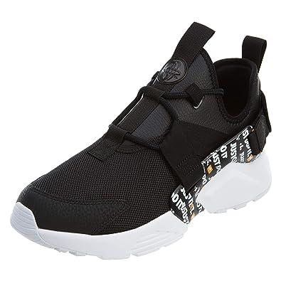 Nike Women\u0027s WMNS Air Huarache City Low PRM, Black/Black,White,Total