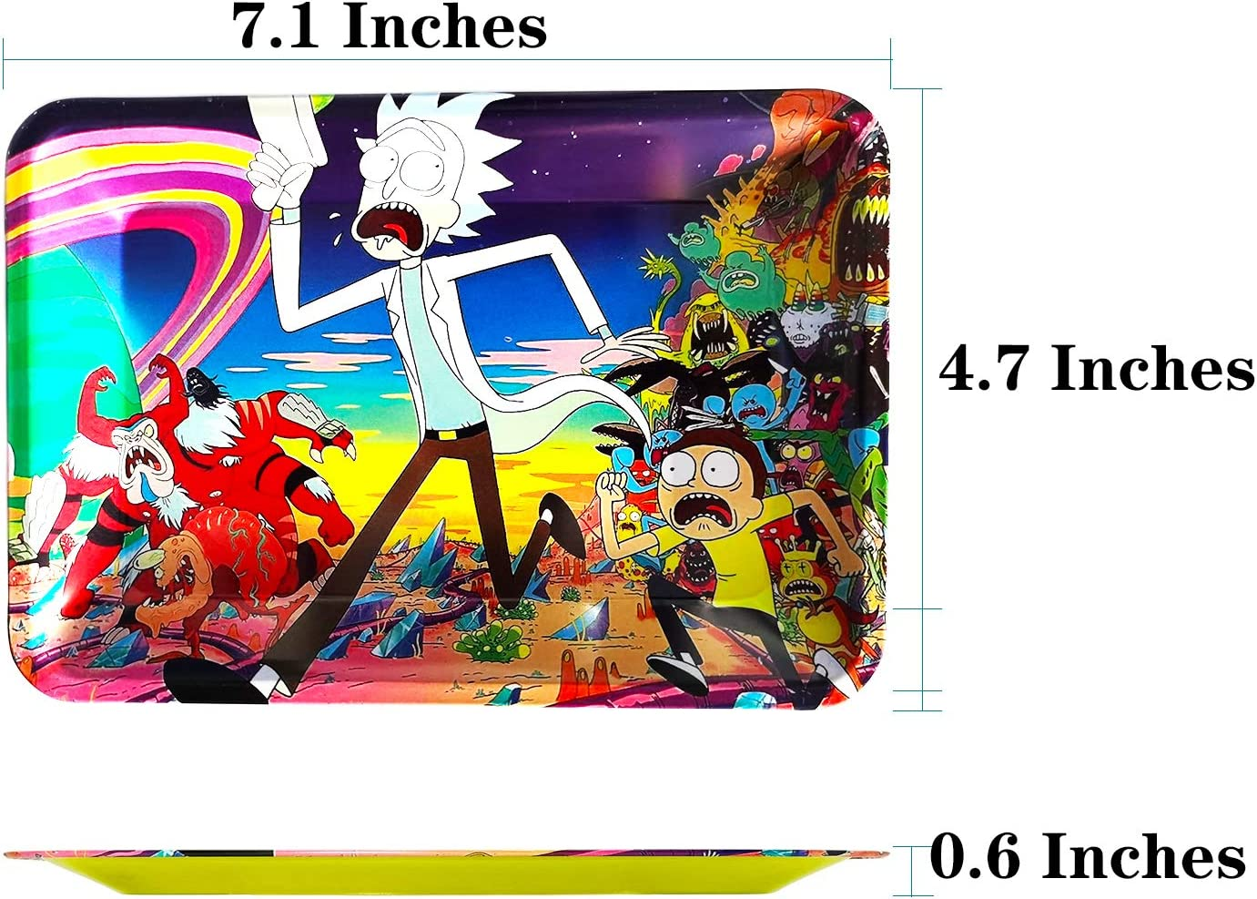 Rolling Tray New Art Pallets Easy Carry Metal Rolling Tray