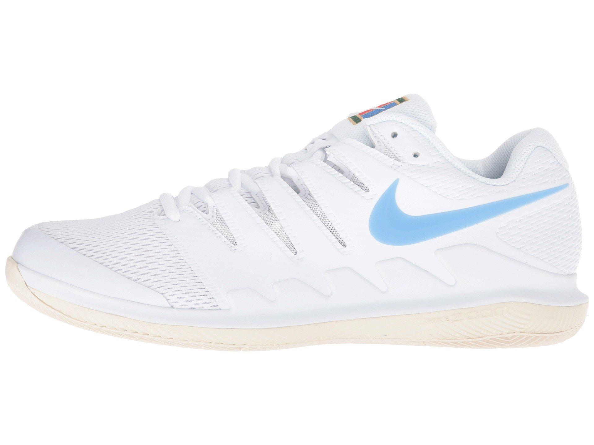 separation shoes 31dd4 944c9 Galleon - NIKE Men s Zoom Vapor X Tennis Shoes (12.5 D US, White University  Blue Light Cream)