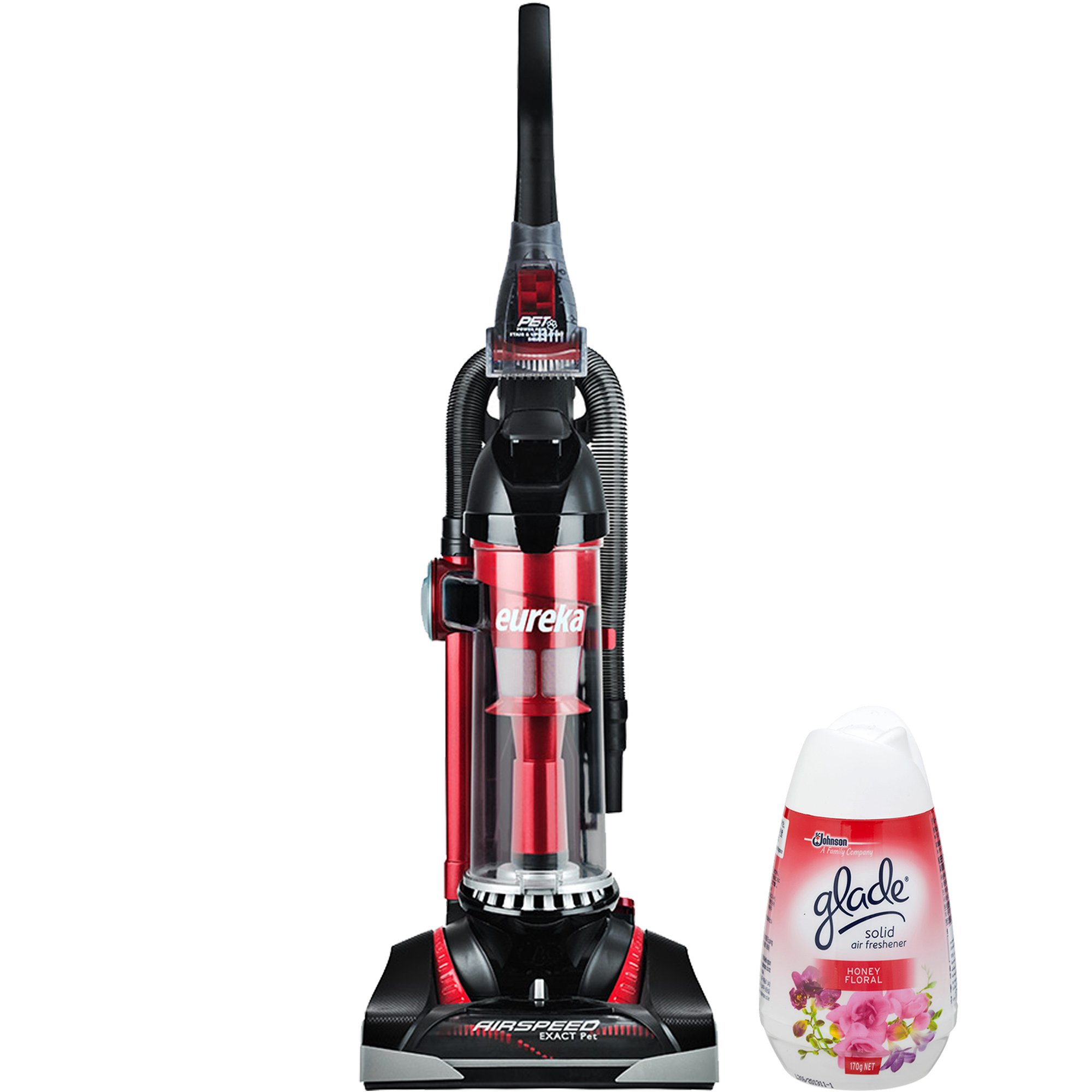 Eureka Airspeed Technology Pet Hair Lightweight Corded Bagless Upright Vacuum Cleaner with Onboard Tools and Air Freshener