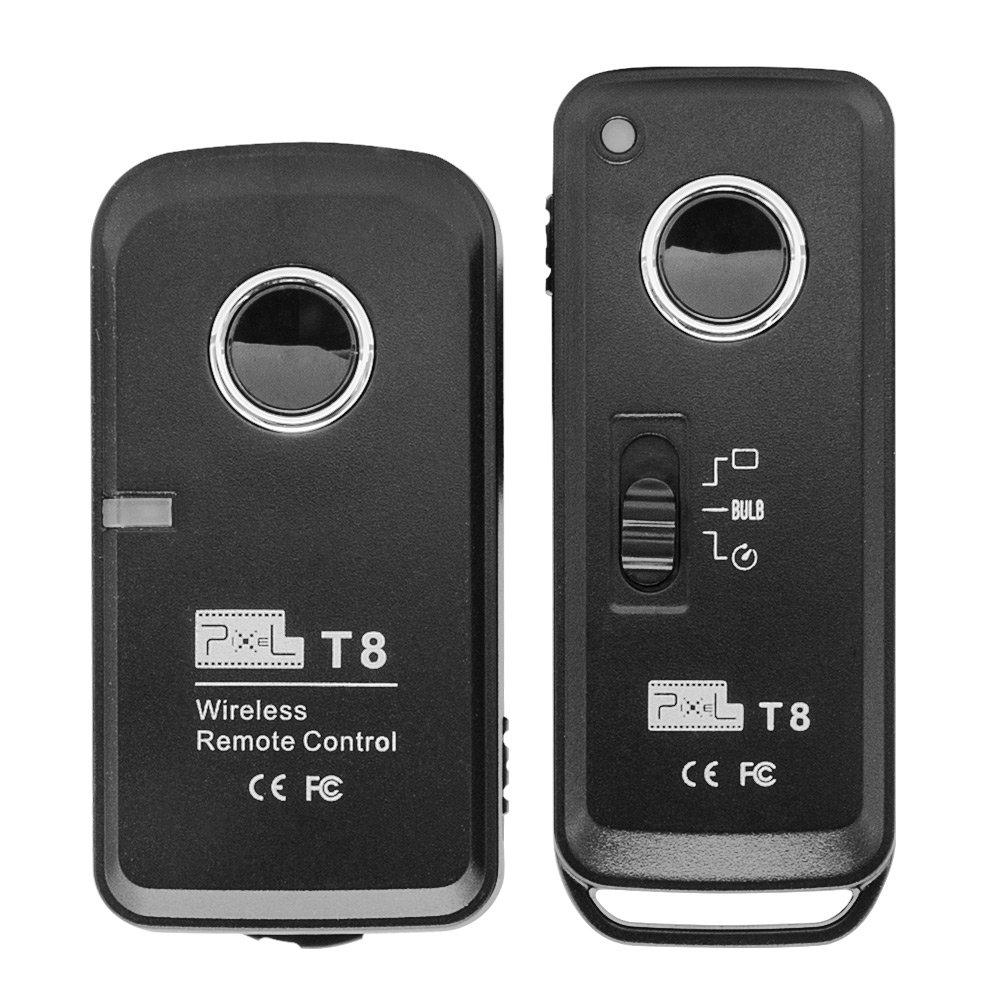 Pixel T8 / DC2 Telecomando dell\'otturatore senza fili per Nikon D3100, D3200, D3300, D5000, D5100, D5200, D5300, D5500, D90, D7000, D7100, D7200, D600, D610, D750, Df