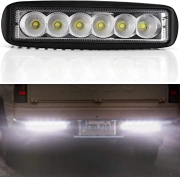 2x 6inch 18W Led Work Light bar Flood for Off road Jeep Truck Ford Boat 4WD SUV