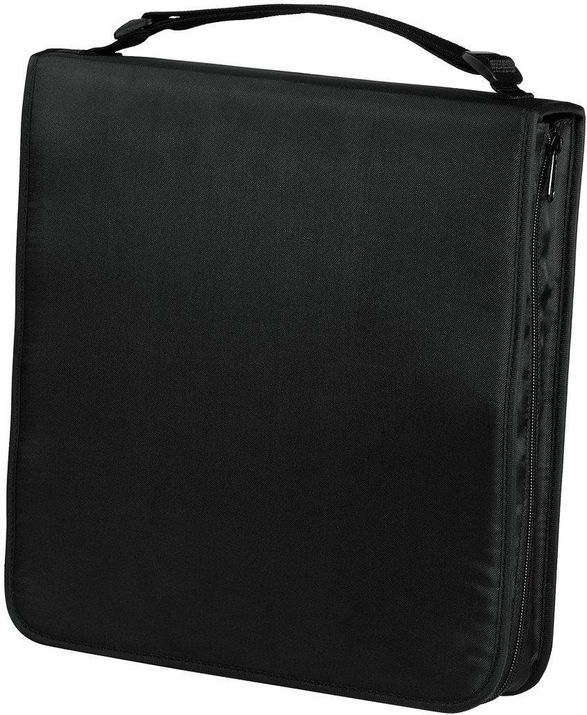 Hama - Estuche porta CD para 160 CD/DVD/Blu-rays, portafolios para guardar CD, negro