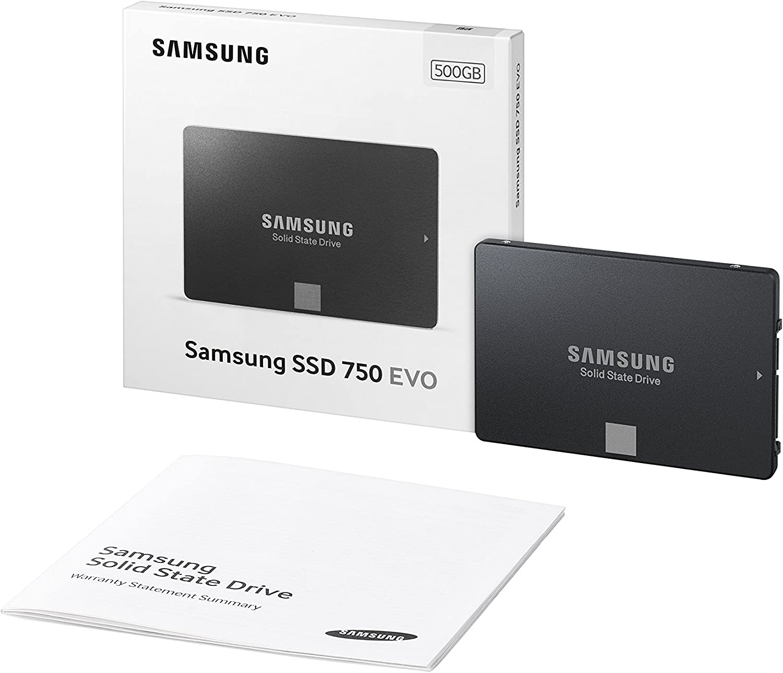 Samsung SSD 750 EVO - Disco Duro sólido (500 GB, Serial ATA III ...