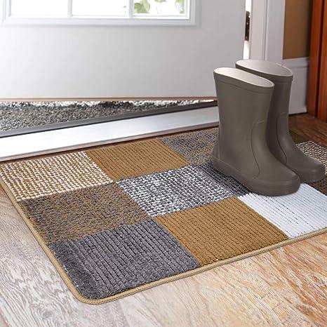 Indoor Doormat 19 X 31 Absorbent Front Back Door Mat Floor Mats Rubber Backing Non Slip Door Mats Inside Mud Dirt Trapper Entrance Front Door Rug Carpet Machine Washable Low Profile Home