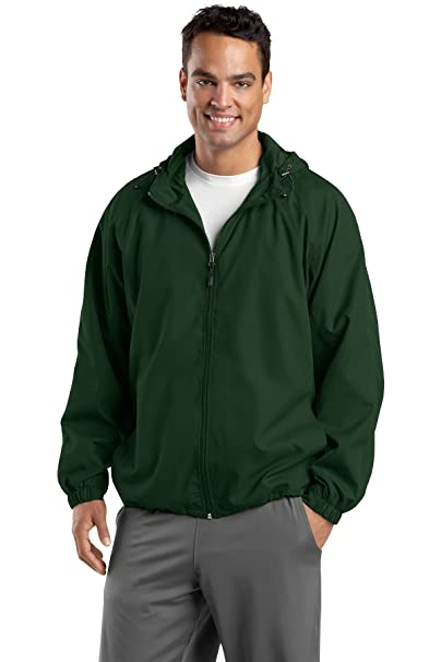 dca68ce5e Sport-Tek JST73 Hooded Raglan Jacket at Amazon Men's Clothing store:
