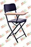 MBTC Ambient Folding-Study Training Institution with Writing Pad Folding Chair (Black)