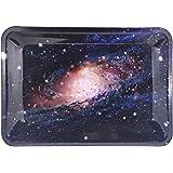 """Galaxy Rolling Tray Star Blue Black 7"""" x 5"""""""