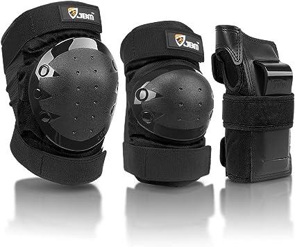 JBM rodilla cojines codo cojines mu/ñeca guardias protecciones conjunto para rodillo en l/ínea patinaje Ciclismo Ciclismo Scooter Skate BMX monta/ña bicicleta patines extremo deporte