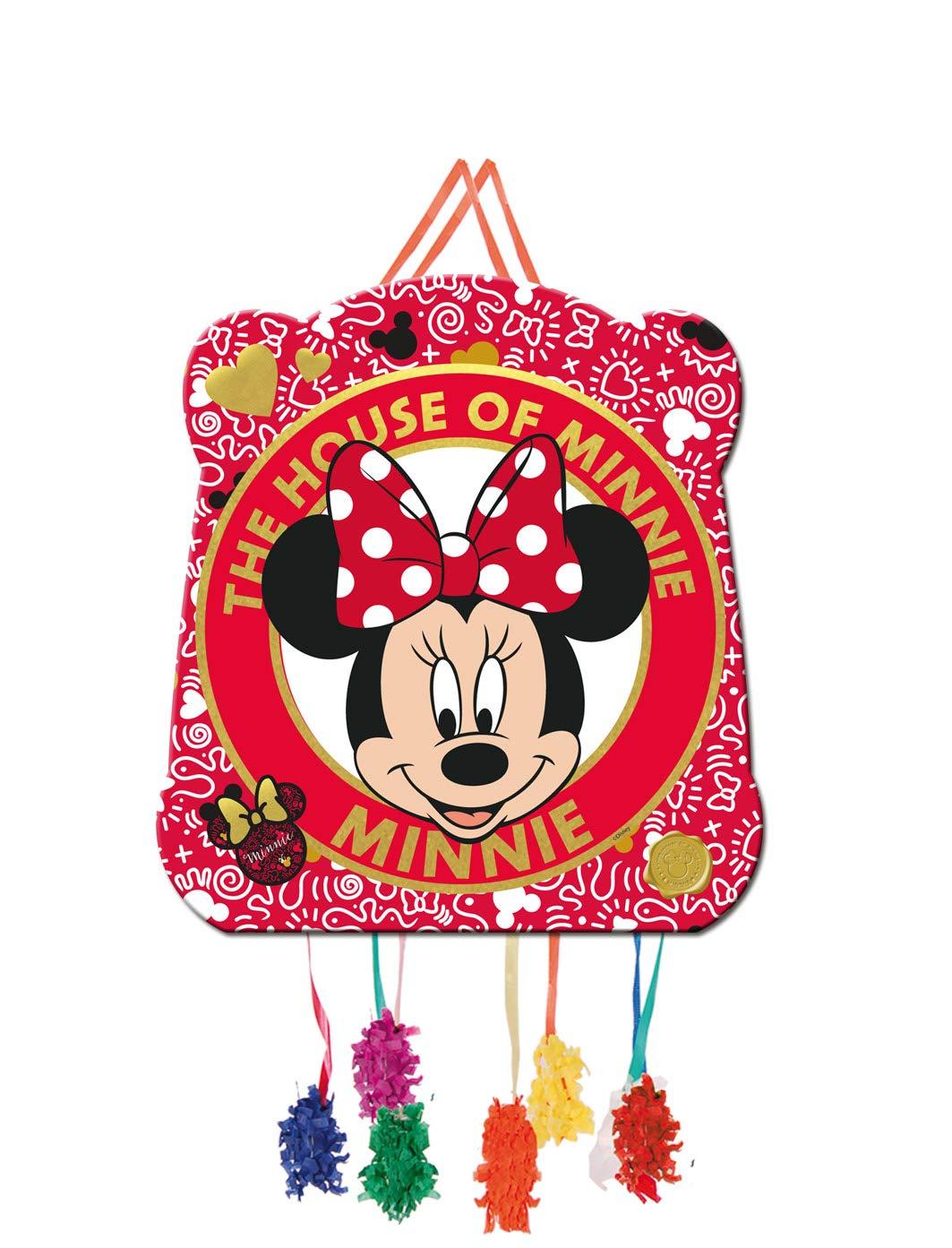 ALMACENESADAN 0821, Piñata Basic Disney Minnie Mouse, Multicolore, pour Les fêtes et Les Anniversaires. 28x33 cm.