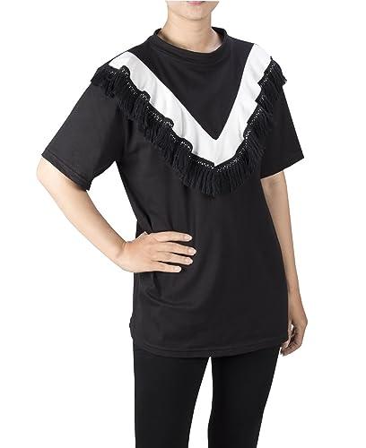 Lofbaz Mujer Volante fruncido Cuello en V Casual Blusa Camiseta