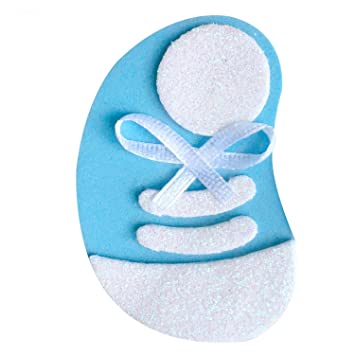 Amazon Com Cute Baby Shower Pin Set 10 Pieces Blue Tennis Shoes