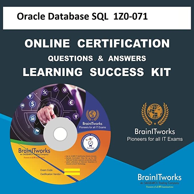 Oracle Database SQL  1Z0-071 Online Certification Learning Made Easy ...