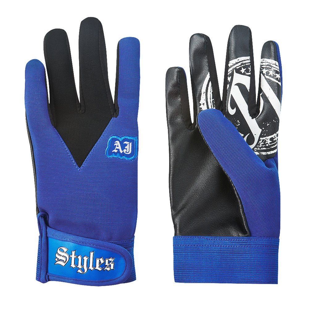 AJ Styles Blue Pro Wrestling Fight Gloves by WWE Authentic