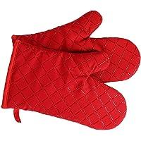 Premium anti-slip ovenwanten (1 paar) tot 240 °C - siliconen extreem hittebestendige grillhandschoenen BBQ handschoenen…