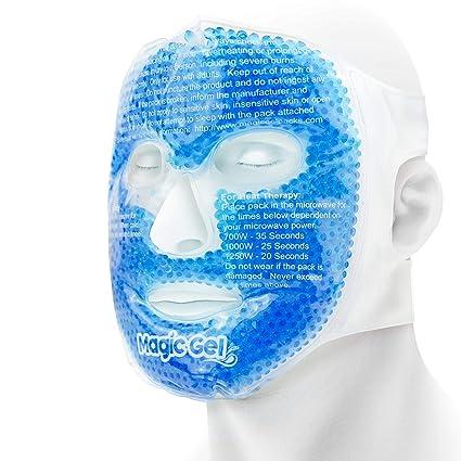 Máscara facial de refrigeración de alta calidad - Paquete de gel para dolores de cabeza,