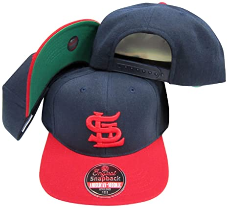 Image Unavailable. Image not available for. Color  St. Louis Cardinals Navy  Red Two Tone Plastic Snapback Adjustable Snap Back Hat  f14437dc78a7