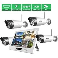 4-Pack Uniojo 1080P Wireless Security Camera System