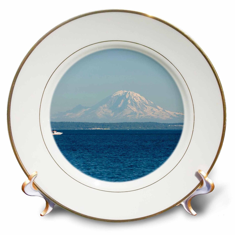 Mt Rainier-US48 TDR0394-Trish Drury-Porcelain Plate 8-Inch Useless Bay 3dRose cp/_96912/_1 Washington Whidbey Island