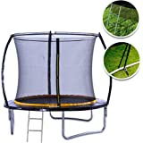 kanga 6ft/8ft/10ft/12ft Premium Trampoline with Safety Enclosure, Net, Ladder and Anchor Kit